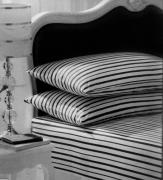 Stripe White/black Fitted Sheet Bedding King Bed Set
