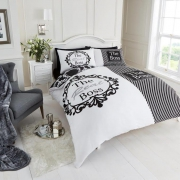 The Real Boss White/black Bedding King Duvet Cover Set