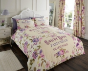 Iola Scripted 'Natural Purple' Single, Double, & King size Quilt Duvet Cover Sets