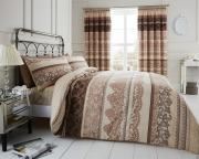 Reverie 'Cream Brown' Double, King & Super King size Quilt Duvet Cover Sets