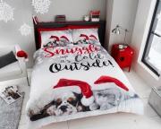 Christmas Pals Panel Single Bed Duvet Quilt Cover Set