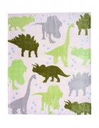 Luxury Kids Dino Printed Rotary Fleece Blanket Throw