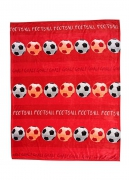 Luxury Kids Football Red Printed Fc Rotary Fleece Blanket Throw
