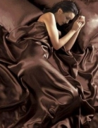Satin Brown Chocolate 6pc Complete Set Bedding King Duvet Cover