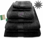 Towel Egyptian Jumbo Sheet Black Plain