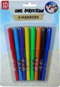 One Direction 8 Pack Markers Stationery