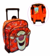 Disney Winnie The Pooh 'Tigger' Mini Pvc School Travel Trolley Roller Wheeled Bag