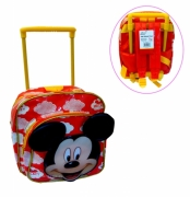 Disney Mickey Mouse 'Mickey' Red Mini Pvc School Travel Trolley Roller Wheeled Bag