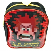 Disney Wreck It Ralph 'I' M Gonna It' Pvc Front School Bag Rucksack Backpack