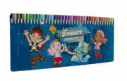 Jake and The Never Land Pirates 'Treasure Awaits Us' 50 Piece Colouring Pencils Tin Stationery