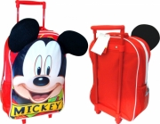 Disney Mickey Mouse with Ears School Travel Trolley Roller Wheeled Bag
