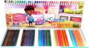 Disney Doc Mcstuffins 50 Piece Colouring Pencils Tin Case Stationery