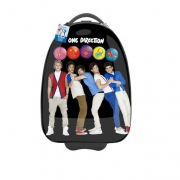 One Direction 'Season 13' with Light Flashing Wheels School Luggage Trolley Bag