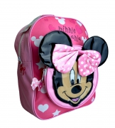 Disney Minnie Mouse Pink Polka Dot Bow School Bag Rucksack Backpack