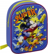 Disney Mickey Mouse 3d Effect School Bag Rucksack Backpack