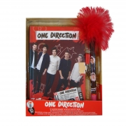 One Direction with Fluffy Pen Secret Diary Stationery