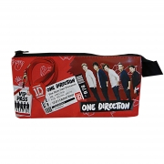 One Direction '3 Pocket Red' Pencil Case Stationery