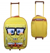 Spongebob Squarepants 3d Large School Travel Trolley Roller Wheeled Bag