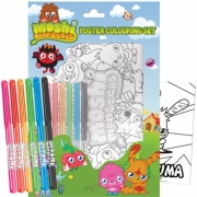 Moshi Monsters Poster Colouring Set Stationery
