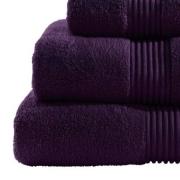 Towel Catherine Lansfield Zero Twist 550gsm Blackberry Plain Bath Sheet