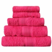 Towel Catherine Lansfield Home 450gsm Hot Pink Plain Bath