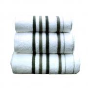 Towel Catherine Lansfield Java Stripe 450gsm Black/white Bath