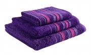 Towel Catherine Lansfield Java Stripe New Col 450gsm Plum Bath