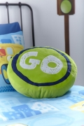 Catherine Lansfield 'Trucks Go' Sign Shaped Cushion