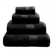 Towel Catherine Lansfield Home 450gsm Black Plain Face