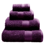 Towel Catherine Lansfield Home 450gsm Plum Plain Face