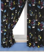 Bart Simpson Funk 66 X 72 inch Drop Curtain Pair