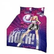 Disney Hannah Montana Rock Panel Double Bed Duvet Quilt Cover Set
