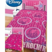 Disney Hannah Montana Reversible Rotary Single Bed Duvet Quilt Cover Set