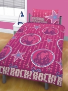 Disney Hannah Montana Life Rotary Double Bed Duvet Quilt Cover Set