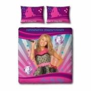 Disney Hannah Montana Swirl Panel Double Bed Duvet Quilt Cover Set