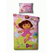 Dora 'Play' Panel Single Bed Duvet Quilt Cover Set