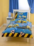 My First Jcb Rotary Single Bed Duvet Quilt Cover Set
