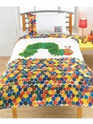 Hungry Caterpillar 'Spots' Panel Single Bed Duvet Quilt Cover Set