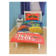 Chuggington 'Trantastic' Panel Single Bed Duvet Quilt Cover Set