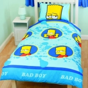 Bart Simpson Mischief Rotary Single Bed Duvet Quilt Cover Set