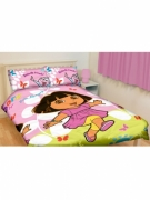 Dora The Explorer Play Rotary Double Bed Duvet Quilt Cover Set