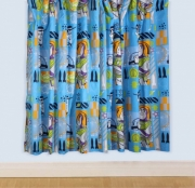 Disney Toy Story 'Space' Without Tie Backs 66 X 54 inch Drop Curtain Pair