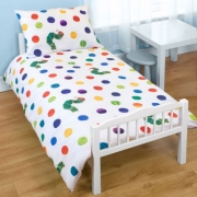 Hungry Caterpillar 4pc Bundle Rotary Junior Cot Bed Duvet Quilt Cover Set