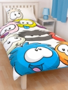 Disney Club Penguin Arctic Reversible Panel Single Bed Duvet Quilt Cover Set