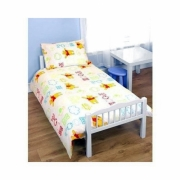 Disney Winnie The Pooh 'Playground' Rotary Junior Cot Bed Duvet Quilt Cover Set