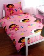 Dora Play Rotary Junior Cot Bed Duvet Quilt Cover Set