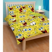 Spongebob Squarepants 'Heads' Rotary Double Bed Duvet Quilt Cover Set