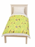 Spongebob Squarepants 'Head' Rotary Fleece Blanket Throw