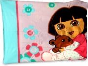 Dora Buttons Panel Fleece Blanket Throw