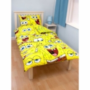 Spongebob 'Heads' Rotary Single Bed Duvet Quilt Cover Set